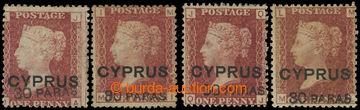227710 - 1881 SG.10, Viktorie 1P červenohnědá s přetiskem CYPRUS