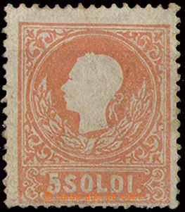 22775 - 1858 Lombardsko - Benátsko zn. II.emise 5 Soldi, Mi.9 typ I,