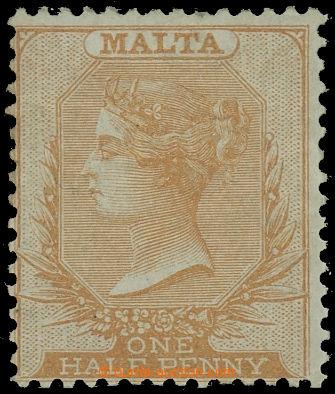 227797 - 1860 SG.1, Viktorie 1/2P žlutohnědá (buff), bez průsvitk