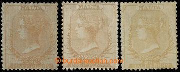 227798 - 1861-1863 SG.2, 3, 3a, 3x Viktorie 1/2P na bílém papíru b