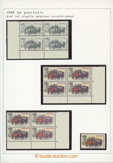 227828 - 1966 [SBÍRKY]  TISKOVÉ ZKOUŠKY TÚS Praha, Dostavník - r