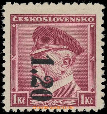 227847 - 1938 ASCH / Mi.5D, svislá černý přetisk na čs. zn. TGM
