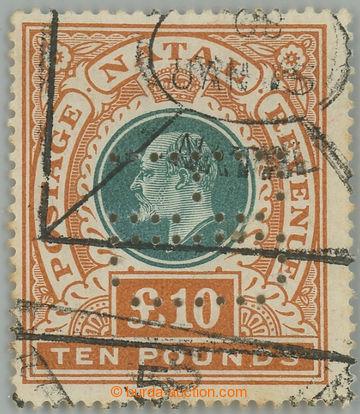 227900 - 1902 SG.145, Edvard VII. £10 zelená / oranžová; hledaný