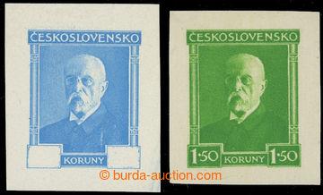 227913 - 1930 ZT  sestava 2ks zkusmých tisků známek TGM  bez hodno