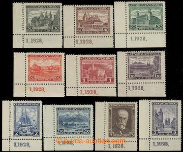 227916 - 1928 Pof.233-242 DČ, Jubilejní 30h - 5Kč, kompletní řad