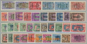 228015 - 1924-1931 sestava sérií: Mi.43-60,74-81, Yv.75-83; celkov�