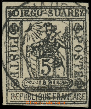 228021 - 1890 Mi.10, Francia 5C s DR DIWGO SUAREZ; zk. Diena, kat. 10