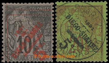 228023 - 1891 Mi.11-12, přetiskové Alegorie 5C/10C a 5C/20C; bezvad