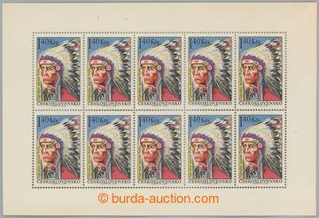 228099 - 1966 Pof.PL1541, Indián 1,40Kčs; bez nálepky, pruhy v lep
