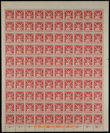 228101 -  ARCHOVINA / Pof.151A, 20h červená, kompletní 100ks arch,
