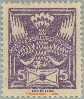 228114 -  Pof.144A, 5h fialová, tisk na lepu; vzadu stopa po nálepc