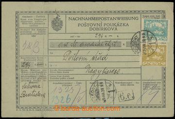 228122 - 1919 celá (!) rakouská dobírková poukázka v německo -