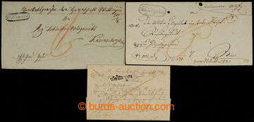 228163 - 1818-1839 ČESKÉ ZEMĚ / WITTINGAU (Třeboň), 3 dopisy s r