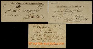 228167 - 1822-1844 ČESKÉ ZEMĚ / TABOR, 3 dopisy s V. TABOR a malá