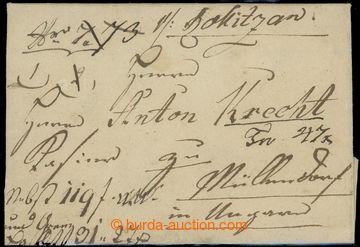 228168 - 1812 ČESKÉ ZEMĚ / ROKITZAN, peněžní dopis s hodnotou 3