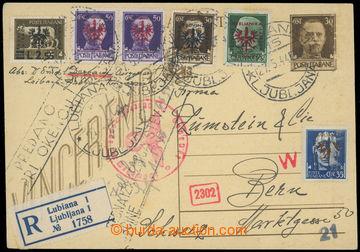 228200 - 1944 LAIBACH (Ljubljana)  italská dopisnice Mi. P101 zaslan