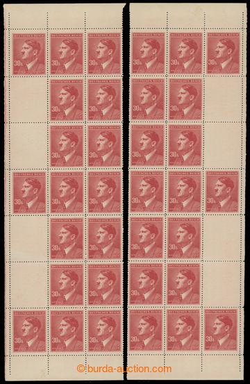 228208 - 1942 PÁSY / Pof.96-98, A.H. 30K červená, levý a pravý s