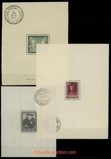 228272 - 1930-1936 Mi.Bl.1-Bl.5, sestava 5 aršíků Výstava Antverp