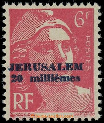 228289 - 1948 KONZULÁRNÍ POŠTA JERUZALÉMU / Mi.62, přetisková 2