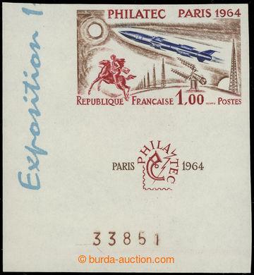 228290 - 1964 Mi.1480, Yvert 1422a, výstava Philatec 1Fr, krajový N