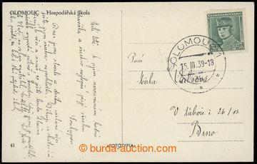 228292 - 1939 1. DEN  protektorátu ČaM, pohlednice Olomouce vyfr. �