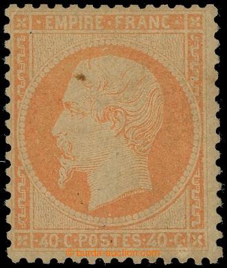 228296 - 1863 Mi.22a, Napoleon III. 40C oranžová; neupotřebená s