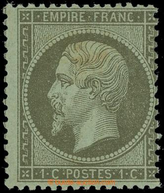 228298 - 1862 Mi.18a, Napoleon III. 1C; neupotřebená s původním l