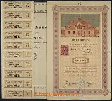228371 - 1925 Dluhopis - tělocvičná jednota Sokol Počáply, hodno