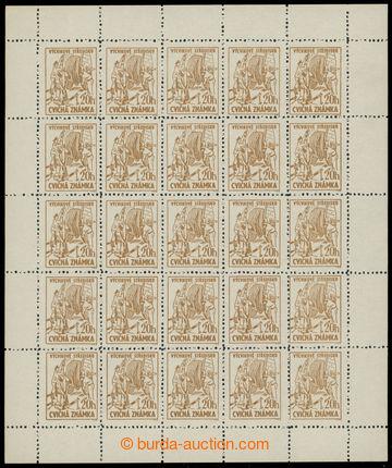 228373 - 1954 CVIČNÉ ZNÁMKY - VÝPLATNÍ / Pof.2A, 20h světle hn�