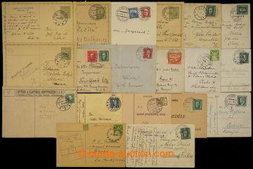 228386 - 1923-1938 sestava 19ks celistvostí s razítky VLP, mj. BROU