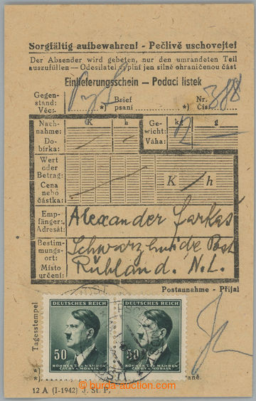228419 - 1945 KT SACHSENHAUSEN / pobočný tábor SCHWARZHEIDE, podac
