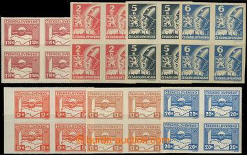 228445 -  Pof.353-359, kompletní řada 1,50k - 20K ve 4-blocích; sv