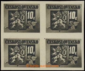 228482 - 1945 Pof.371 ST, Bratislavské 10K černá, 4-blok se spojen