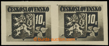 228483 - 1945 Pof.371 VV, Bratislavské 10K černá, vodorovná 2-pá