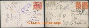 228497 - 1919-1921 ŘEŠIHLAVY (Geb.0389/2a), dvě pohlednice sotis