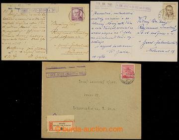 228516 - 1945-1950 OBCE - OCHOZ (Geb.0913/4a, 5), sestava 3ks, R-dopi