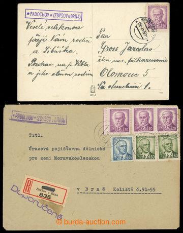 228517 - 1946-1947 PADOCHOV (Geb.0960/6b, 7), R-dopis a pohlednice s�