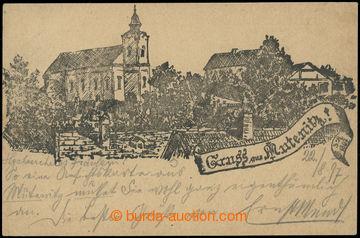 228520 - 1897 MUTĚNICE - Gruss aus Mutenitz, předchůdce (Vorläufe