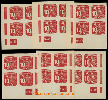 228554 - 1945 Pof.NV24 DČ, Novinové 10h, pravý a levý dolní roho