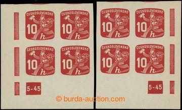 228562 - 1945 Pof.NV24 DČ, Novinové 10h, pravý a levý dolní roho
