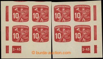 228566 - 1945 Pof.NV24 DČ, Novinové 10h, pravý a levý dolní roho