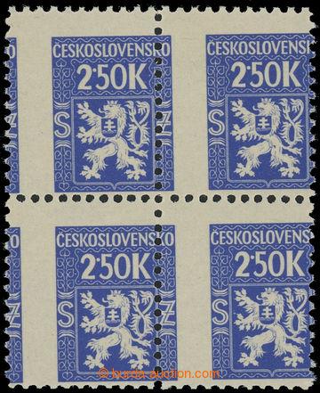 228598 - 1945 Pof.Sl5, Služební (I.) 2,50K modrá, 4-blok, výrazn�