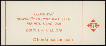 228609 - 1976 ZS8, Kolín 1976, 9Kčs s 20x Pof.2111; pro uchování
