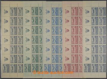 228613 - 1946 Pof.L16, L20-L24, Praha - New York 24Kčs + Letecké mo
