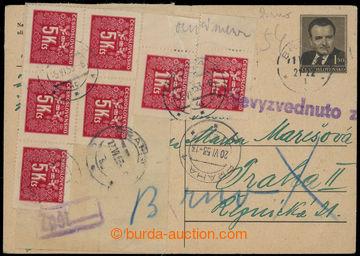 228639 - 1953 1. DEN + DOPLATNÉ / dopisnice CDV109 vybraná 1.6. z p