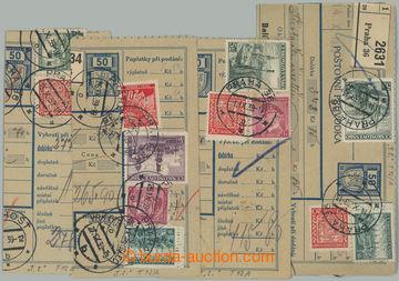 228777 - 1939 Maxa T13, sestava 4ks ústřižků balíkové průvodky