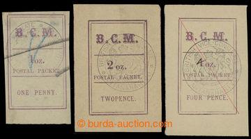 228941 - 1884 SG.5, 6, 8,  BCM (British Consular Mail) POSTAL PACKET,