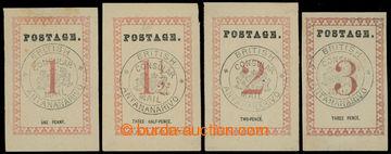 228943 - 1886 SG.21-24, BCM POSTAGE 29mm, hodnoty 1P, 1½P, 2P, 3P s