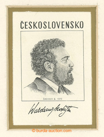 228960 - 1973 NÁVRH / Waldemar Matuška, otisk rytiny NEVYDANÉ zná