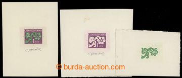 228967 - 1971 ZT  doplatní Pof.D97, Květy 1Kčs, 1x definitivní ry